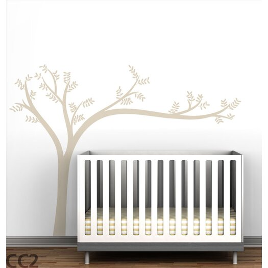 LittleLion Studio Trees Monochromatic Leaning Wall Decal