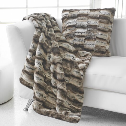 Portico Faux Fur Throw Pillow