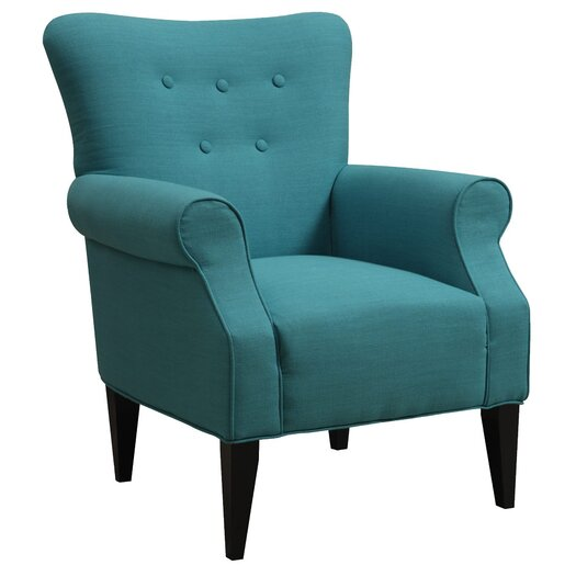 Emerald Home Furnishings Lydia Neon Button Back Arm Chair
