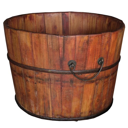 Antique Revival Vintage Wooden Bucket