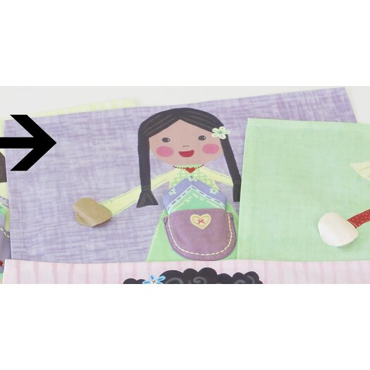 The Little Acorn Green Girl Placemat