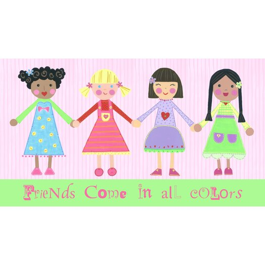The Little Acorn Multi Girls and Friends Come in All Colors Canvas Art