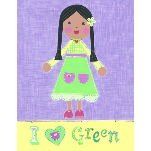 The Little Acorn Green Girl - Starla Canvas Art
