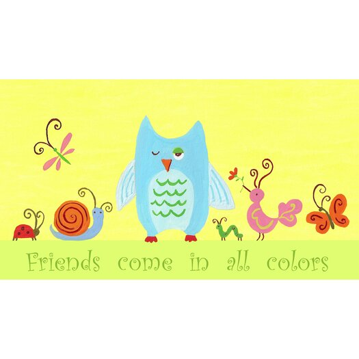 The Little Acorn Animals English Friends Come in All Colors Canvas Art