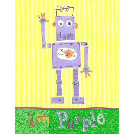 The Little Acorn I'm Purple Robot Canvas Art
