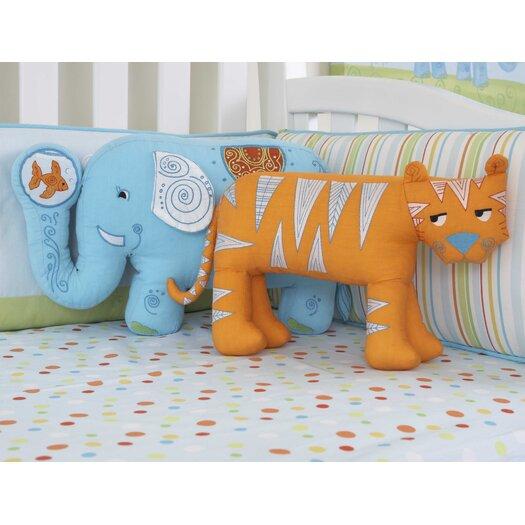 The Little Acorn Funny Friends Elephant Cotton Pillow