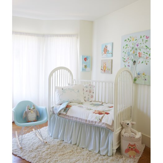 The Little Acorn Baby Owls Crib Bed Skirt