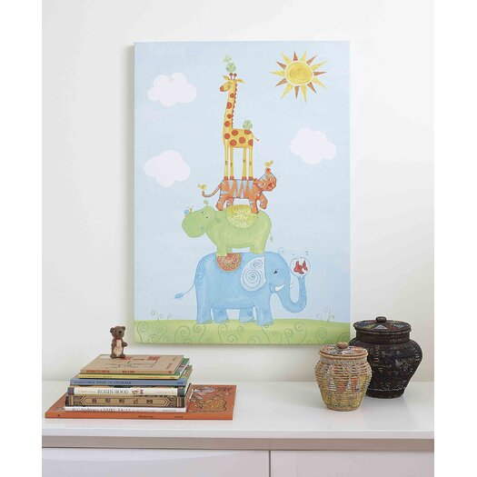 The Little Acorn Funny Friends Party Canvas Art