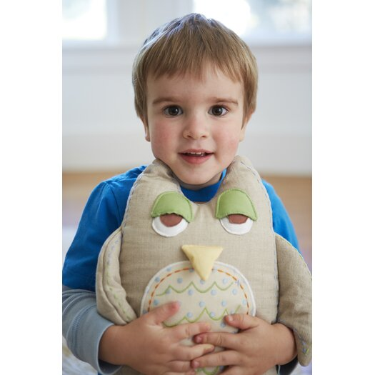 The Little Acorn Baby Owls Linen Pillow