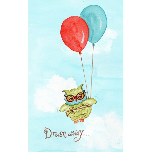 The Little Acorn Baby Owls Dream Away Canvas Art