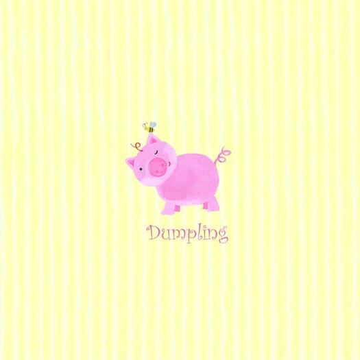 The Little Acorn Alphabet Adventure Dumpling Piggy Canvas Art