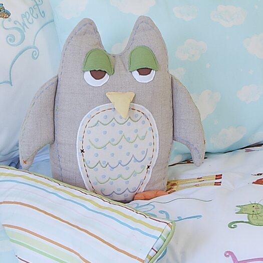 The Little Acorn Alphabet Adventure Owl Linen Pillow