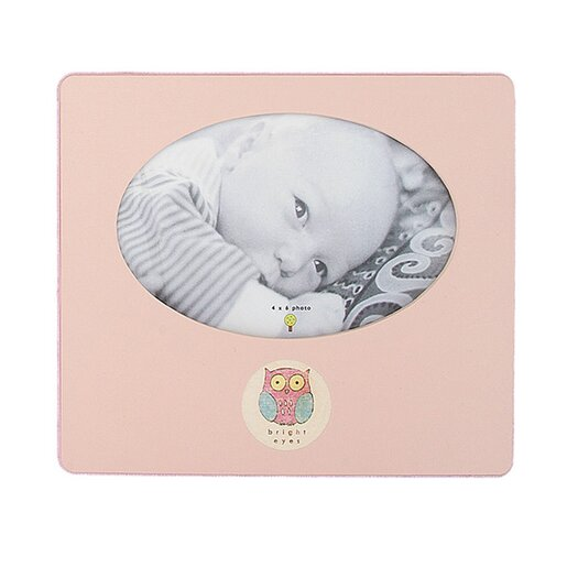 Tree by Kerri Lee Owl Picture Frame in Distressed Pink