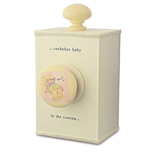 "Tree by Kerri Lee ""Rockabye Baby"" Wind Up Music Box in Distressed Cream"