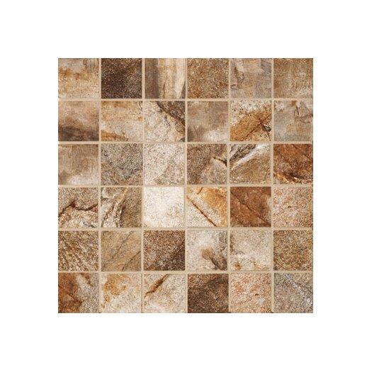 """Marazzi Vesale Stone 2"""" x 2"""" Decorative Square Mosaic in Rust"""