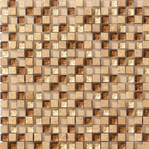 Marazzi Crystal Stone Glass/Stone Mosaic in Caramel
