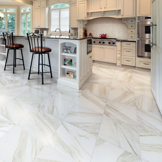 """Marazzi Timeless Collection 12 -15/16"""" x 12 -15/16"""" Field Tile in Calacatta Pearl"""