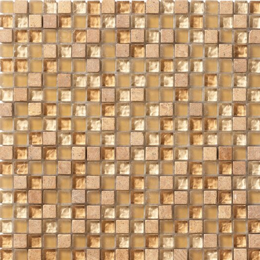 Marazzi Crystal Stone Glass/Stone Mosaic in Honey