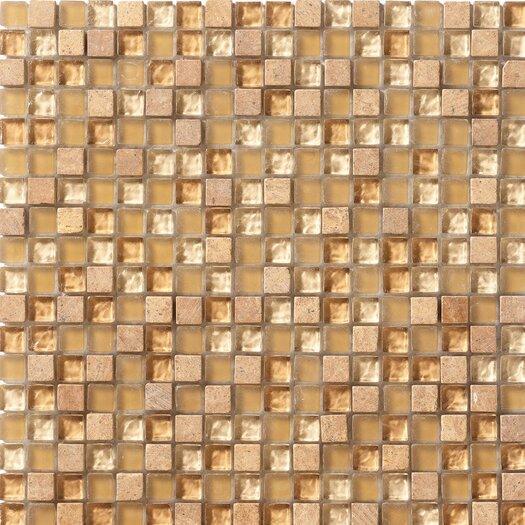 Marazzi Crystal Stone Glass  Mosaic in Honey