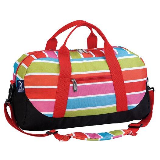 Wildkin Ashley Bright Stripes Overnighter Duffel Bag