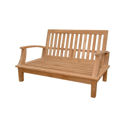 Anderson Teak Brianna Deep Seating Loveseat with Cushions