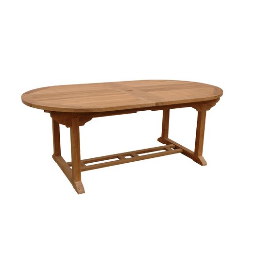 Anderson Teak Bahama Oval Extension Dining Table with Double Extensions