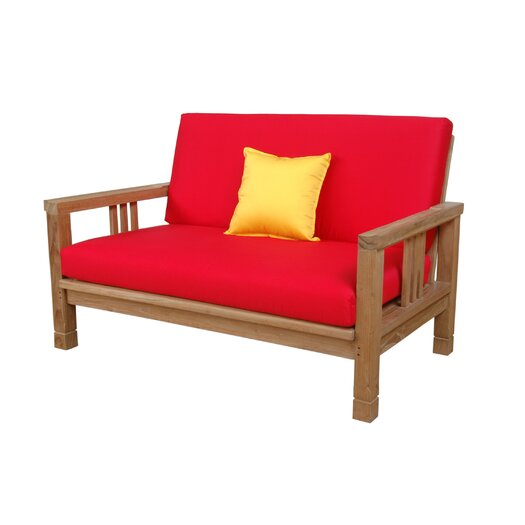 Anderson Teak SouthBay Deep Seating Loveseat with Cushions