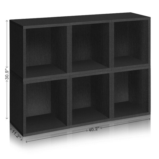 Way Basics Eco-Friendly Modular Storage Cubes Plus
