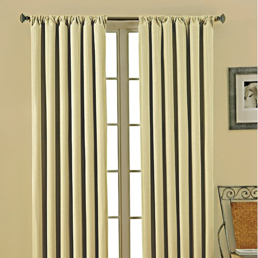 Eclipse Curtains Theodore  Rod Pocket Window Curtain Panel