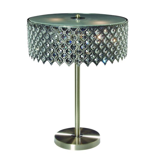 "Gen-Lite Tiara 21.5"" H Table Lamp with Drum Shade"