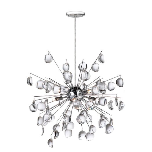 Dainolite Crystal Wafers 8 Light Pendant