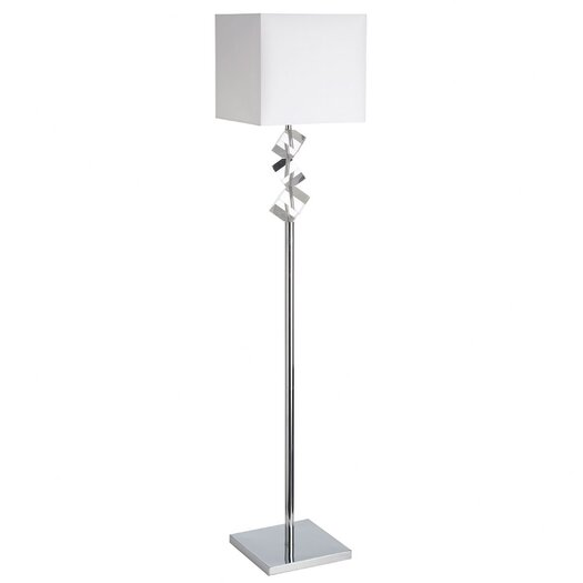 Dainolite 1 Light Crystal Floor Lamp