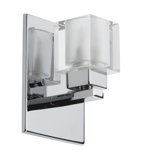 Dainolite New Era Glass Cube 1 Light Wall Sconce