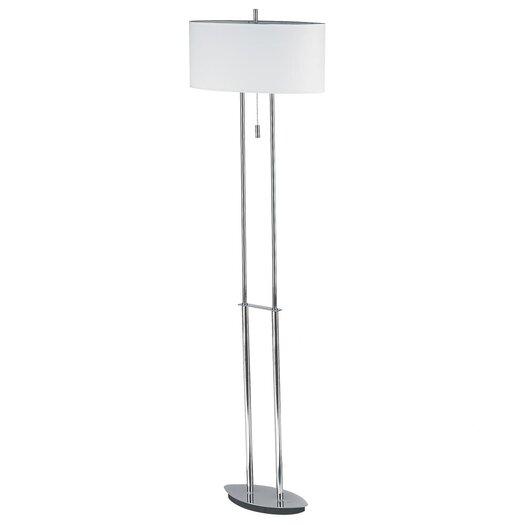 Dainolite Transitional 2 Light Floor Lamp with Oval Shade
