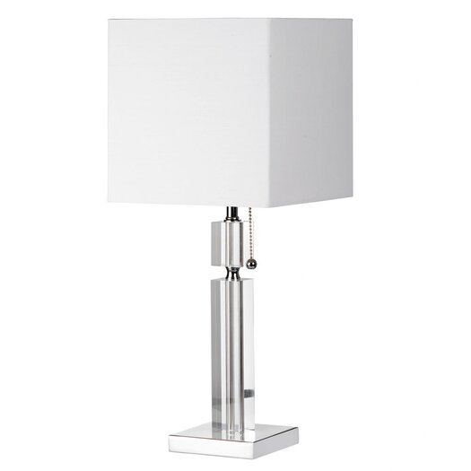 """Dainolite 19"""" H Table Lamp with Square Shade"""