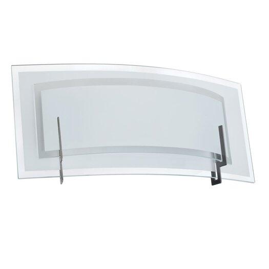Dainolite Clear Frosted Glass 1 Light Vanity Light