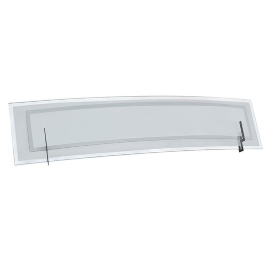 Dainolite Clear/Frosted Glass 3 Light Bath Vanity Light