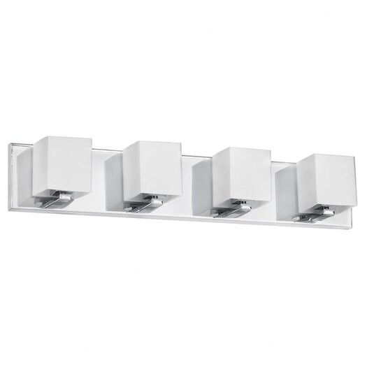 Dainolite Frosted Glass 4 Light Bath Vanity Light