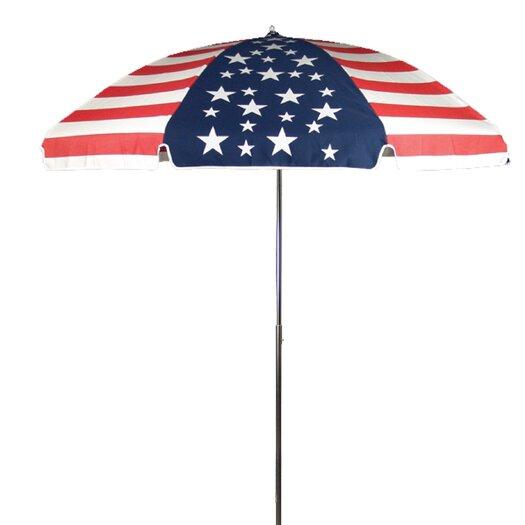 Frankford Umbrellas 7.5' American Flag Beach Umbrella