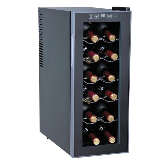 Sunpentown 12 Bottle Single Zone Thermoelectric Wine Refrigerator