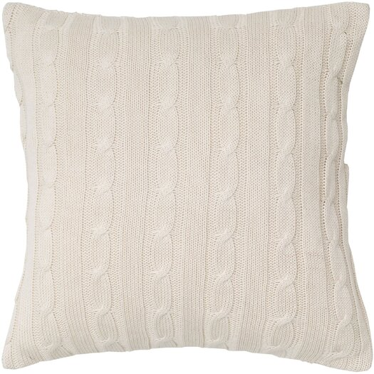 Rizzy Home Cable Knit Wooden Button Closure Throw Pillow
