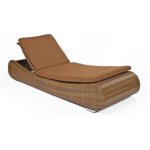 Smith Barnett Long Island Single Adjustable Chaise Lounge with Cushion