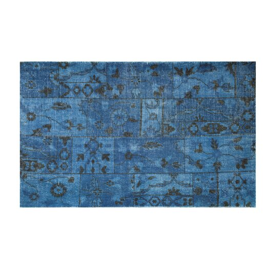 Moe's Home Collection Puzzle Blue Area Rug