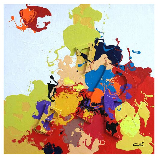 Moe's Home Collection Splash I Painting Print on Canvas