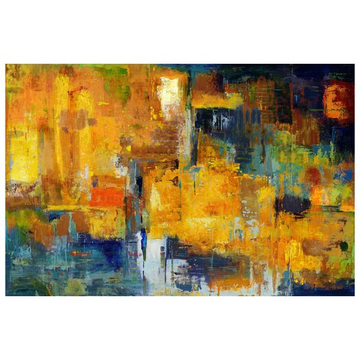 Moe's Home Collection Thunder Painting Print on Canvas