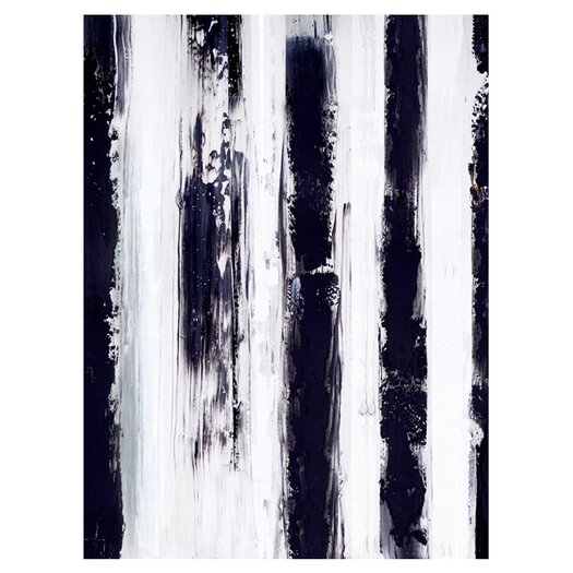 Moe's Home Collection Stripes Painting Print on Canvas