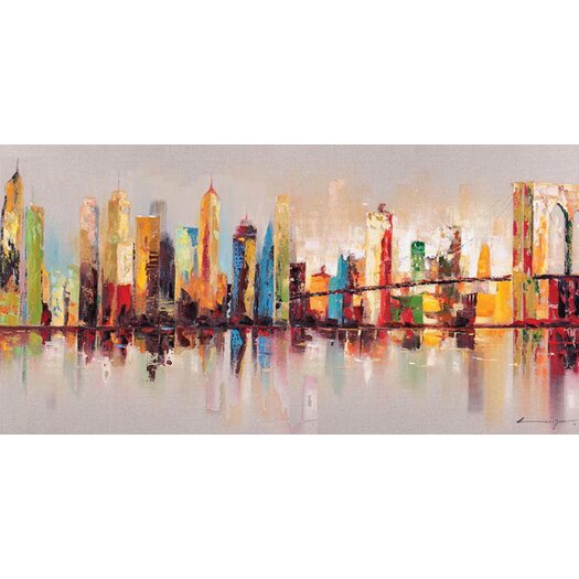 Moe's Home Collection Raw City at Large Painting Print on Canvas