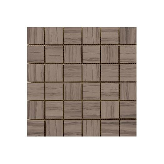 "Emser Tile Metro 12"" x 12"" Marble Honed Mosaic in Taupe"