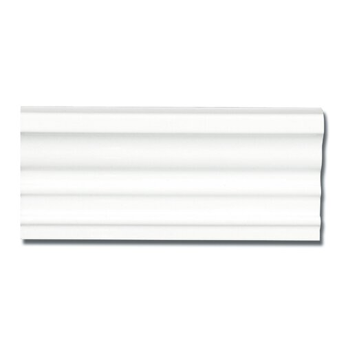 """Emser Tile Classica 9"""" x 4"""" Rail Base Tile Trim in White"""