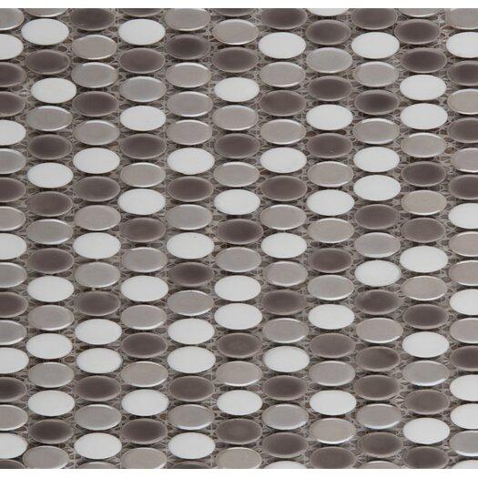 Emser Tile Confetti Porcelain Oval Round Mosaic in Freddo